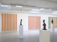 Daniel Buren & Alberto Giacometti, Œuvres contemporaines - Kamel Mennour Gallery