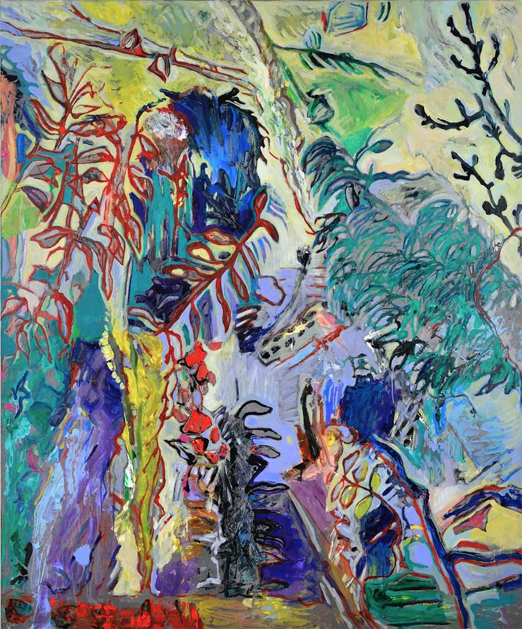 Joan s garden 2014 technique mixte sur toile 180x150 cm large2