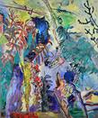 Joan s garden 2014 technique mixte sur toile 180x150 cm tiny