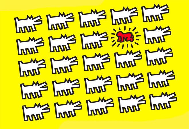 Les Hiéroglyphes de Keith Haring - Musée en Herbe