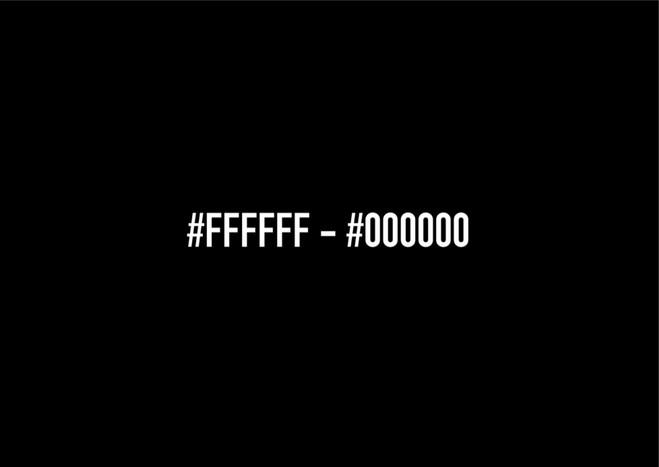 #FFFFFF #000000 - Dix9 Gallery