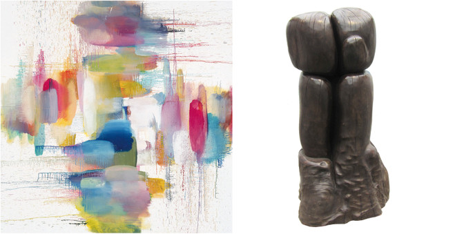 Alix Le Méléder& Wang Keping - Galerie Zürcher