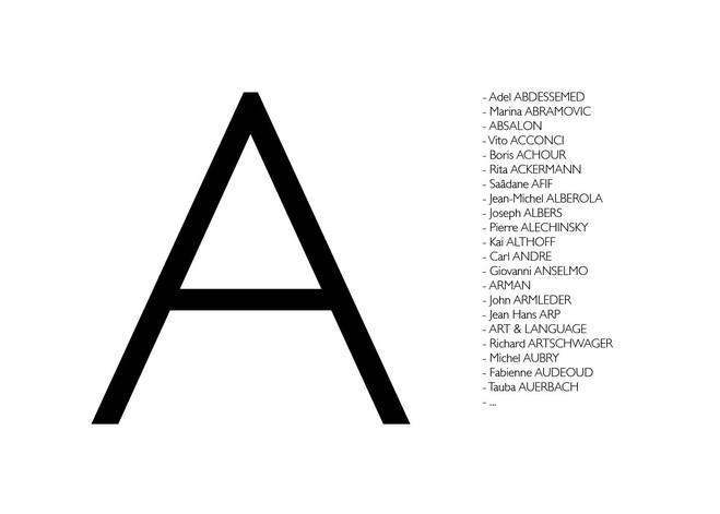 Lettre A - Eva Meyer Gallery