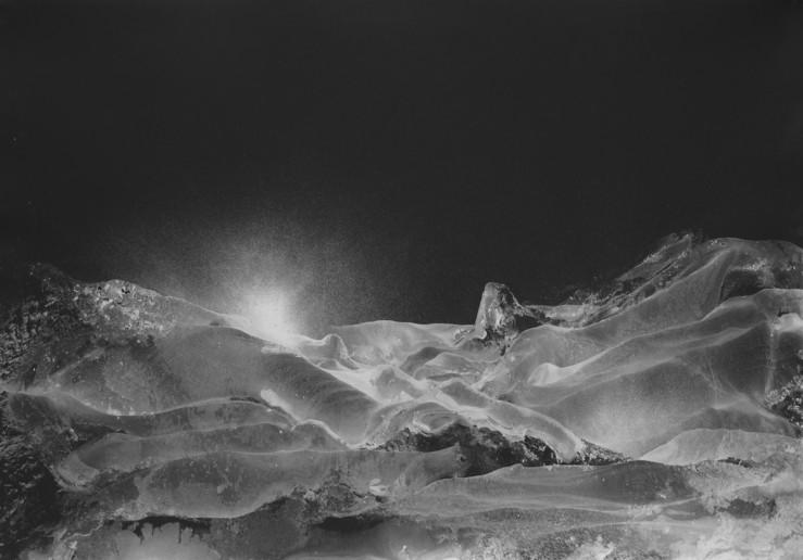 Gilles balmet siver mountains 3 70x100 cm peinture acrylique agent sur papier noir prix 2250 euros large2