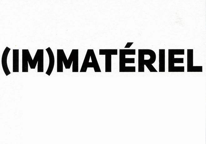 (im)matériel - Galerie Jean Fournier