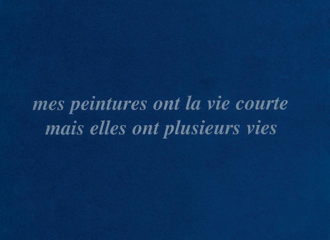 En ce qui me concerne… de Claude Rutault - Galerie Mfc – Michèle Didier