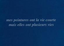 En ce qui me concerne… de Claude Rutault - Mfc – Michèle Didier Gallery
