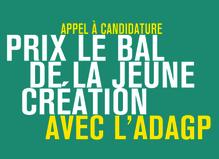 Prix LE BAL de la jeune création avec l'ADAGP 2019 - Le BAL