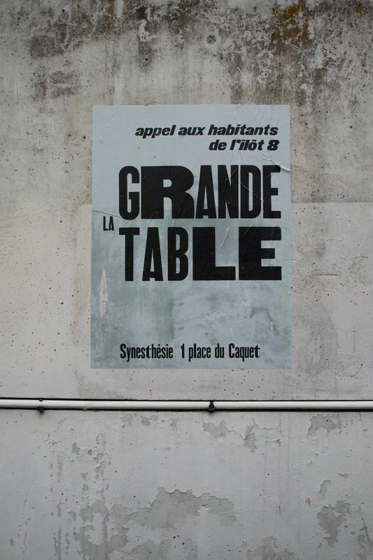 La grande table - Synesthésie