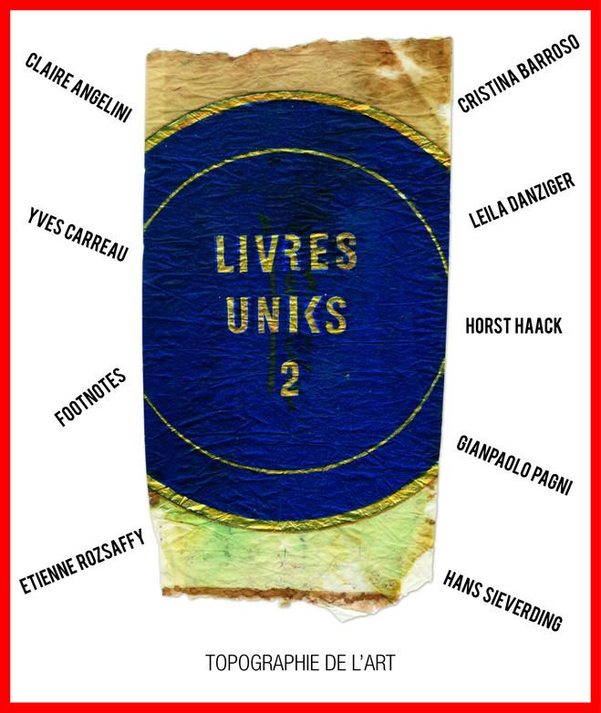 Livres Uniks 2 - Topographie de l'art