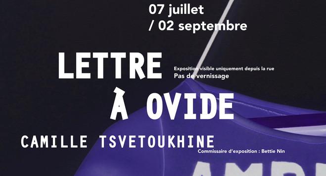 Camille Tsvetoukhine—Lettre à Ovide - CAC La Traverse, Centre d'art contemporain d'Alfortville