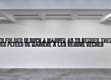 Lawrence Weiner - Marian Goodman Gallery
