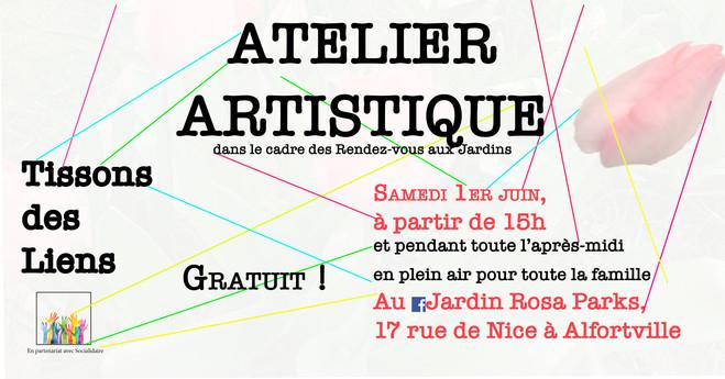 ATELIER ARTISTIQUE—TISSONS DES LIENS - CAC La Traverse, Centre d'art contemporain d'Alfortville