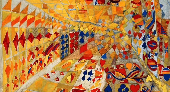 Maria helena vieira da silva le jeu de cartes 1937 huile sur toile et traces de crayon jeanne bucher jaeger paris original 1 feature