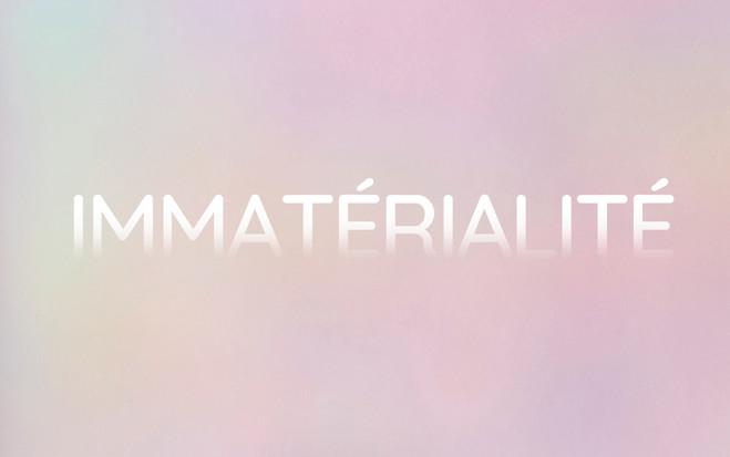Immatérialité - Topographie de l'art