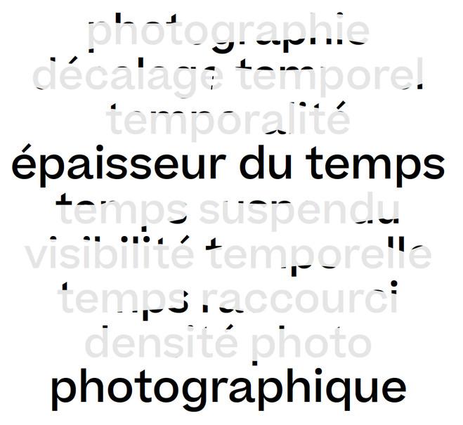 Épaisseur du temps—Photographique - Topographie de l'art