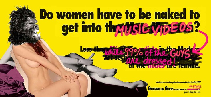 the guerrilla girls do women have to be naked to get into music videos mfc michele didier 250 1 large2