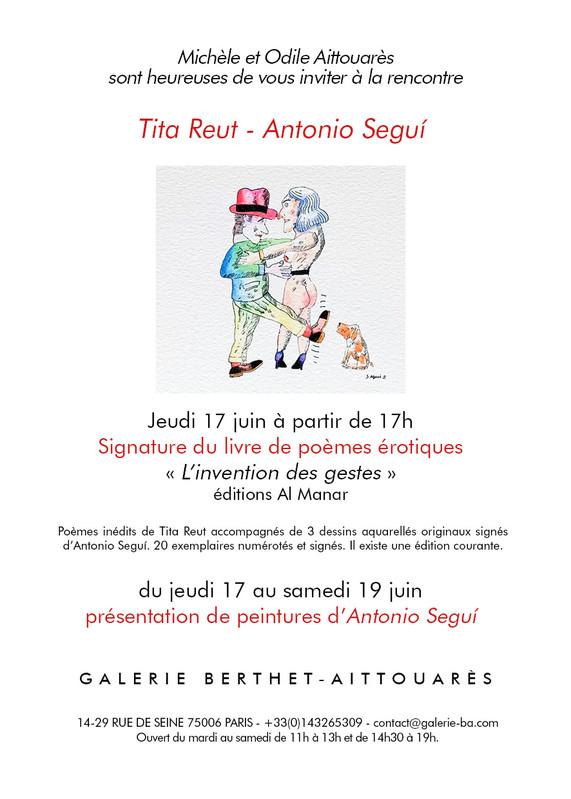 Rencontre Antonio SEGUÍ et Tita REUT - Galerie Berthet – Aittouarès
