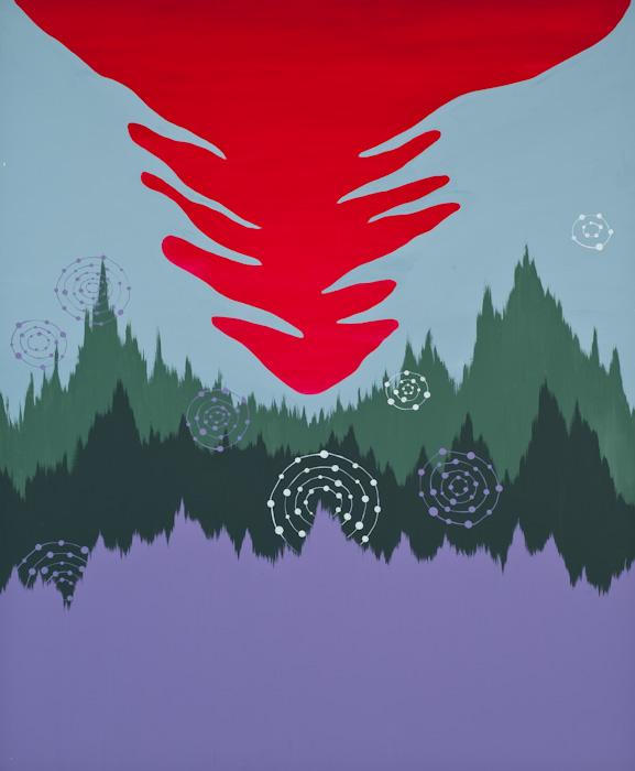 Mail   k92004   ciel rouge r d himmel 120 x 100 cm huile et acrylique sur toile 2009   m. schultz original original
