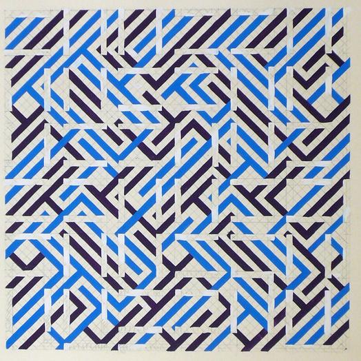 Norman dilworth white overlap  1966 gouache et crayon sur papier  51 x 56 cm   courtesy galerie oniris   rennes medium