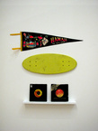 Less is more projects jocelyn villemont tribute to the sun wood records flag 80x45x7cm 2010 tiny