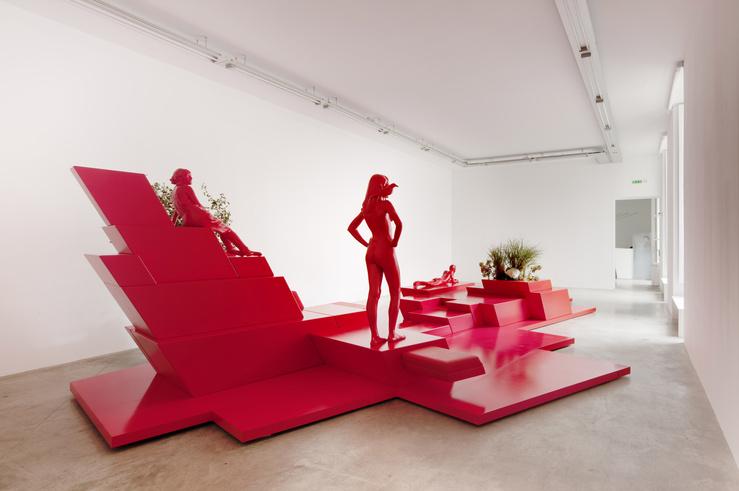 Vue de l'exposition Orchestra, galerie Emmanuel Perrotin, Paris