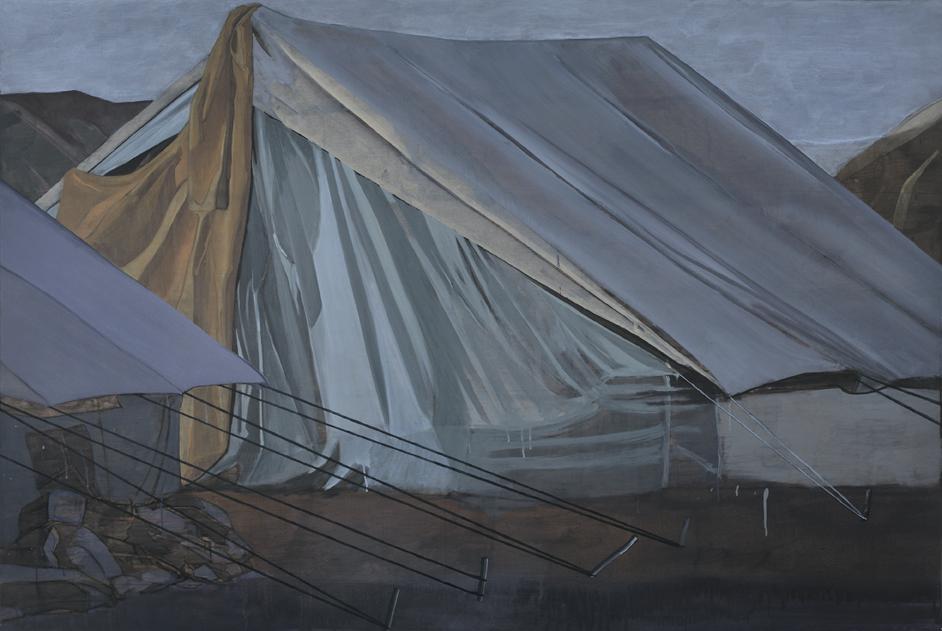 La tente1 130x195cm.acrylique sur toile2010 original