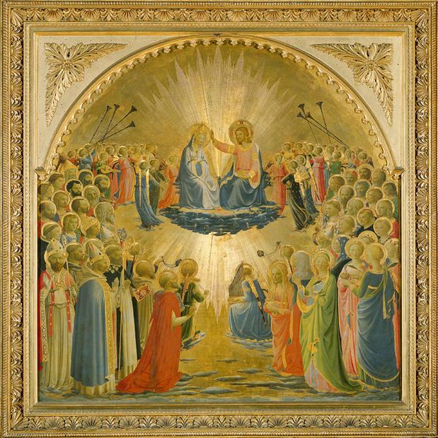 Fra angelico  le couronnement  de la vierge  cr dit d.r large medium