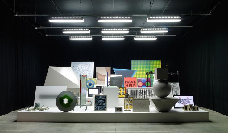 Vue de l'exposition : All of the Above. Carte blanche à John M Armleder, Palais de Tokyo, 2011