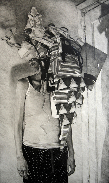 Dane patterson untitled headpiece 2011 graphite sur papier 86 x 53 cm the proposition gallery the artist medium