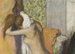 01   edgar degas   apr s le bain femme nue s essuyant la nuque original original grid