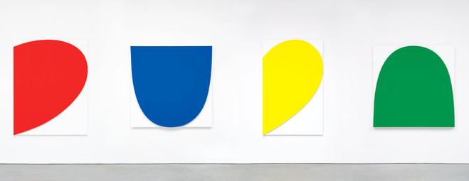 Ellsworth Kelly, Curves on White (Four Panels), 2012