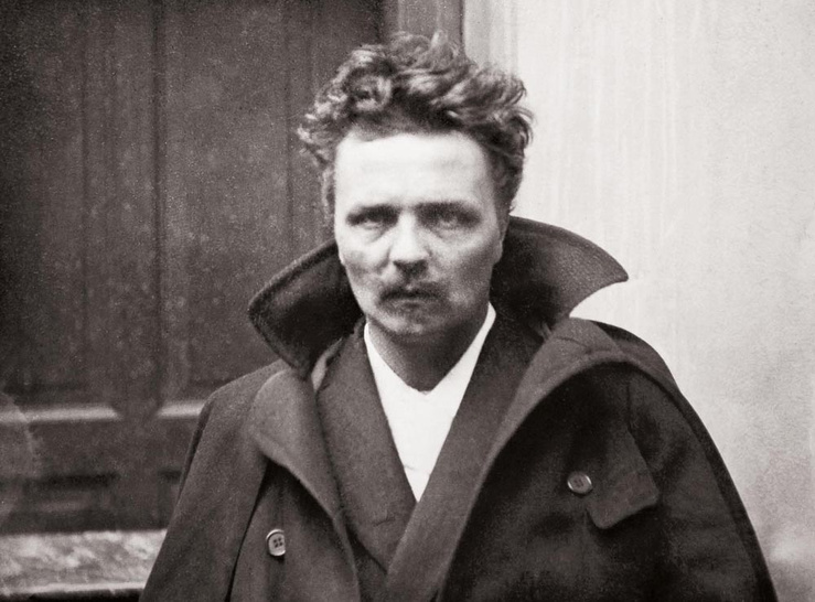August Strindberg, Self-portrait, 1892, 1893 (Détail)