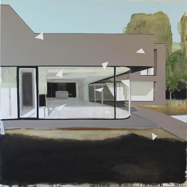 Liron paysage 113 2012 huile sur toile 123 x 123 cm medium