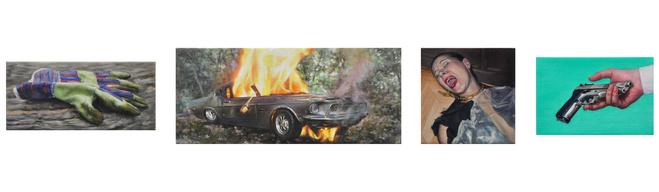 Séquence de 4 peintures