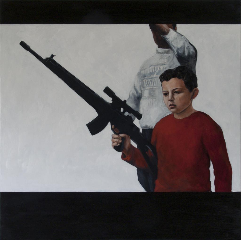 Enfant la haine 2012 huilesurtoile 130x130cm original