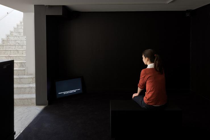 Vue d' «Une exposition parlée. Suite pour exposition(s) et publication(s), premier mouvement» au Jeu de Paume, Paris