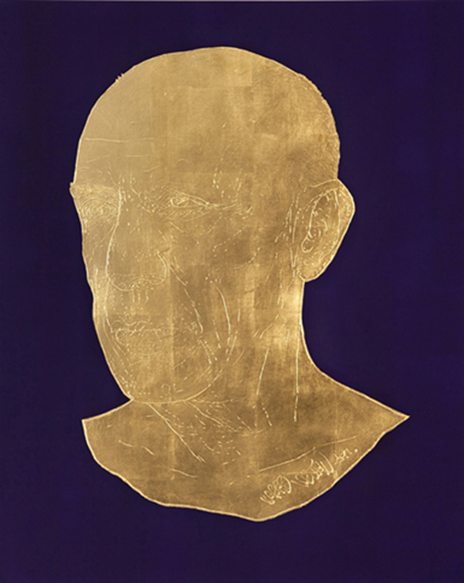 Pablo 2011 gold leaf on canvas 81 x 100cm original original