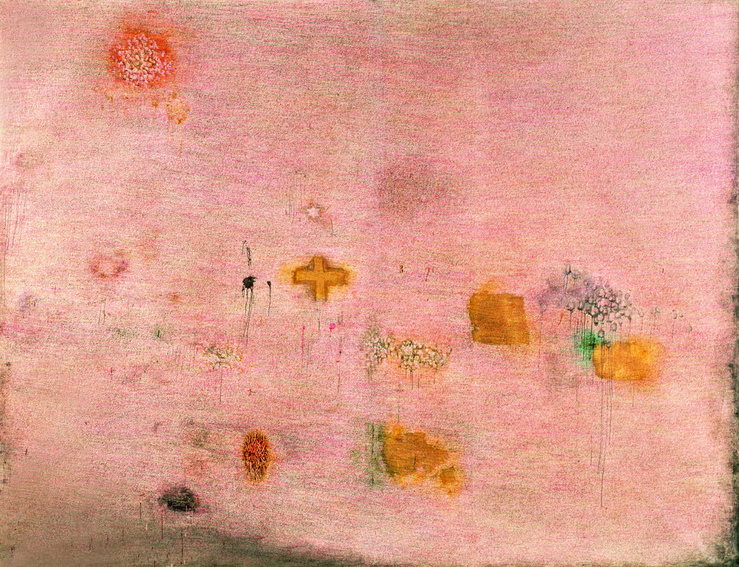 Simon Hantaï, Peinture (Ecriture rose), 1958-1959