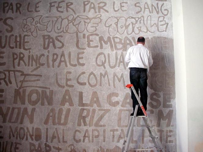 Dector & Dupuy, Palais de Tokyo, Paris Craie sur le mur