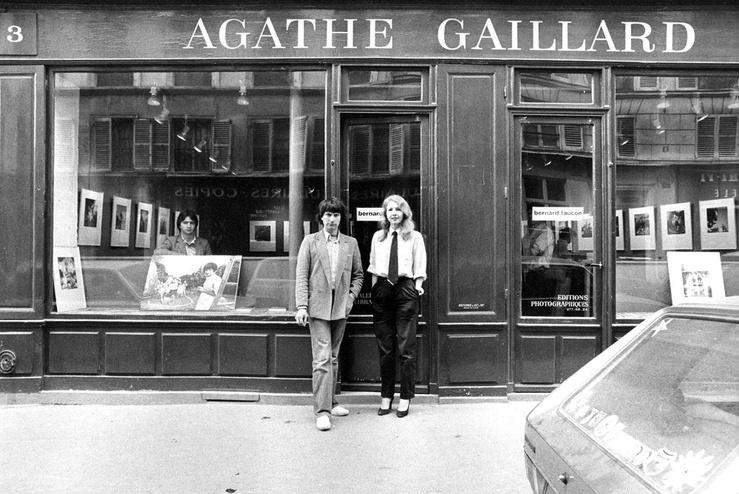 Jean-Claude Larrieu, Agathe Gaillard et Bernard Faucon, mai 1979