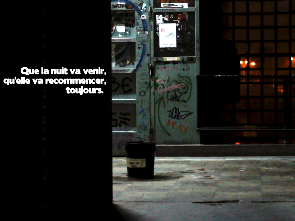 Jeremie scheidler  nuit blanche 1 17.04.2012   2012   vide o hd   03.30 boucle sonore original
