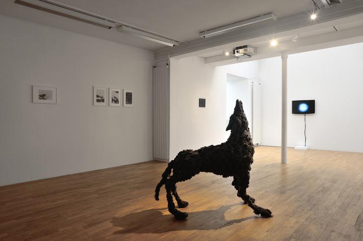 Vue de l'exposition Bruissements, curator Léa Bismuth, Galerie Isabelle Gounod, Paris
