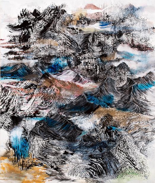 Ridge mapper oil on canvas 2013 152x127cm original medium