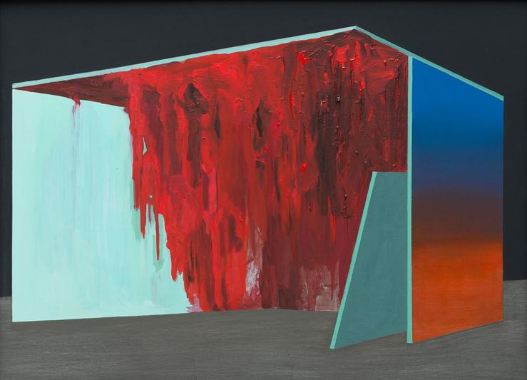 Franck Eon, Série Nature morte d'espaces 9 (Plafond rouge), 2013