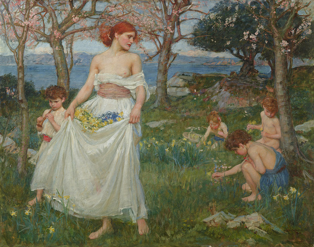 Le champ du printemps   waterhouse medium