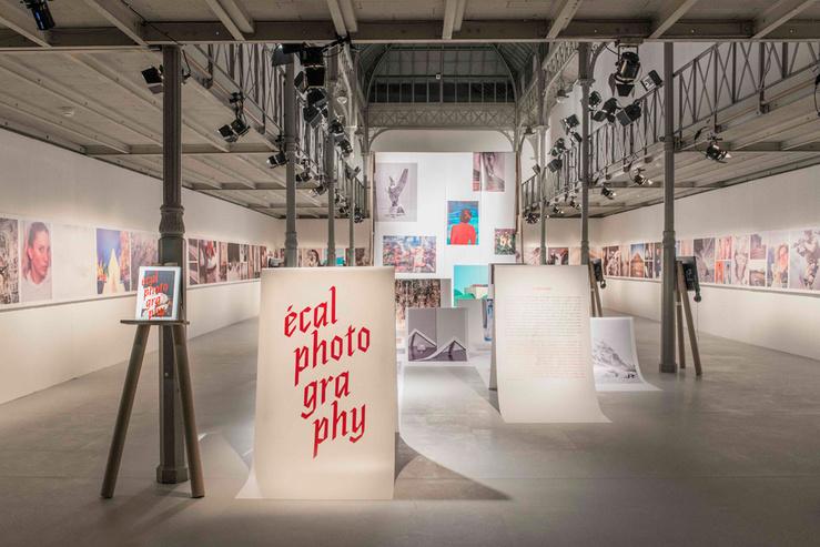 Vue de l'exposition ECAL Photography, galerie Azzedine Alaïa, Paris 2013