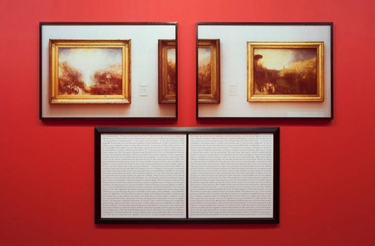 Sophie Calle, Tableaux dérobés : Turner, 1998-2013—Deux photographies couleur, texte, encadrements