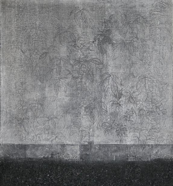 Mail la lumiere par le vent 182x168 cm encre de chine charbon et papier hanji 2013. lee jin woo 2  medium