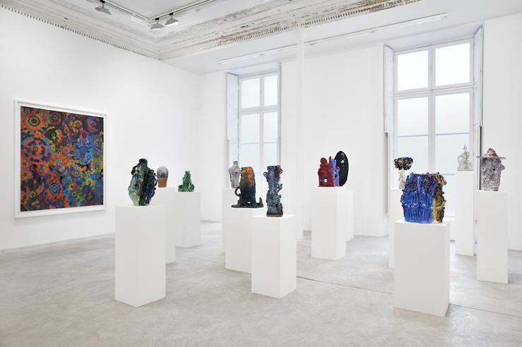 William J. O'Brien, The Lovers, 2014—Vue d'exposition à la galerie Almine Rech